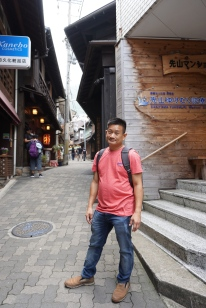 Me in the streets of Arima-onsen