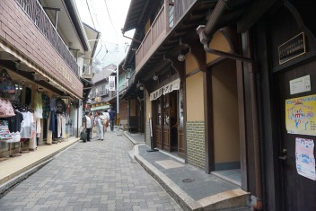 There isn't many people around at the time we visited Arima-onsen