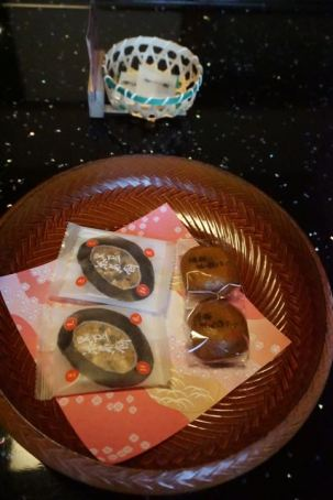 Some Japanese sweets we found inside the room when we arrived