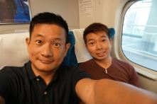 On our way to Himeji on Shinkansen