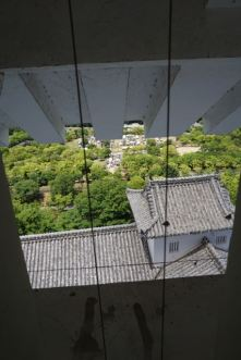 View from the 5th floor in Himeji Castle