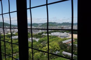 View of Himeji from the top floor