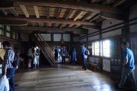 The exhibition room on the ground floor of Himeji Castle