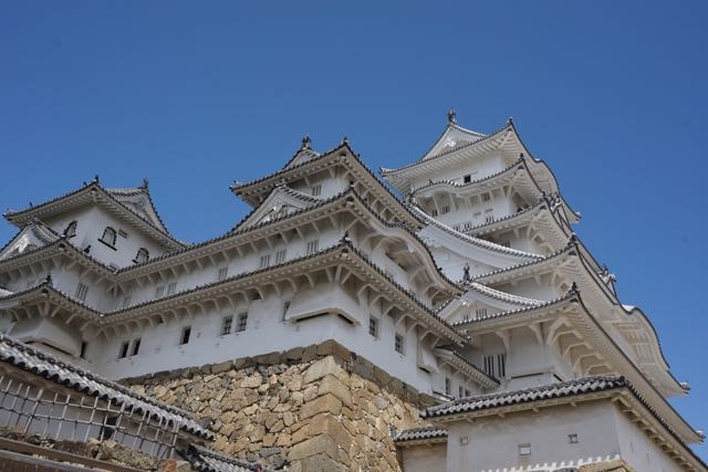 Himeji Castle from its front lawn