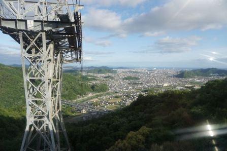 Ropeway up Mt Shosha