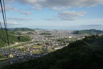 Himeji City from the ropeway