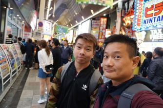 My friend and I at Dotonbori