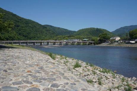 Togetsukyo Bridge crosses over Katsura River