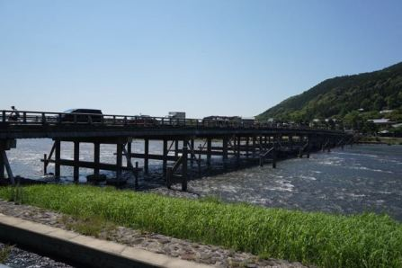 Togetsukyo Bridge from Arashiyama town