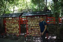 My friend in Nonomiya Shrine