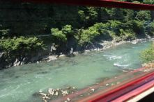 Hozugawa River from Sagano Scenic Railway