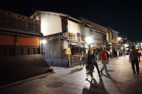 Gion is full of wooden buildings that gives this part of Kyoto an ancient feel