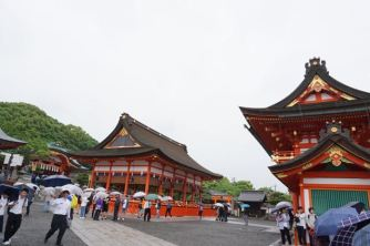 These are the first temple buildings we saw at Fushimi Inari-Taishi