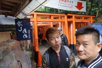 My friend and I at the Senbon Torii Gates