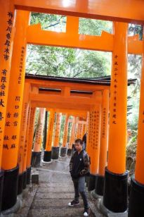 My friend with the torii gates