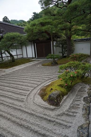 There are a lot of such zen garden features in Ginkakuji