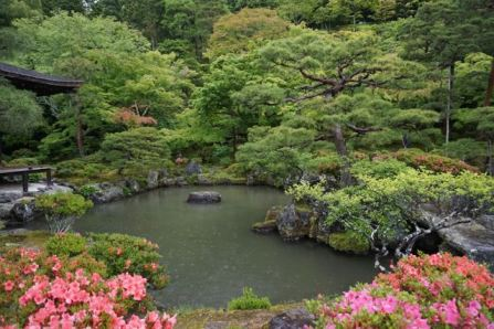 The zen gardens of Ginkakuji