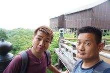 Wefie at the veranda in Okuno-in Hall