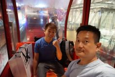 Taking a wefie in HEP5 Ferries Wheel