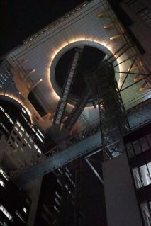 Umeda Sky Building is famous for its float escalators