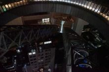 View of the floating escalator from the open deck in Umeda Sky Building