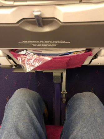 Legroom is quite good onboard Thai Airways Economy Class cabin