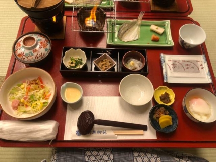 Japanese Breakfast being served