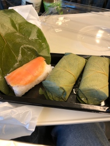 This leaf-wrapped sushi is a specialty in Nara