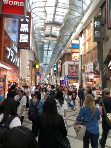 Shinsaibashi is very similar to Ebisubashi-Suji