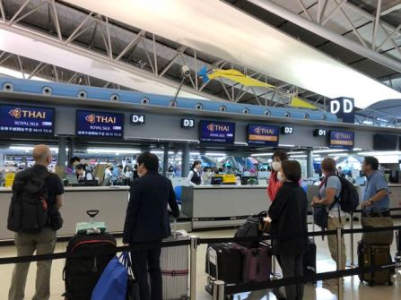 Check-in counters for First and Business Class passengers