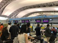Check-in counters for Economy Class passengers