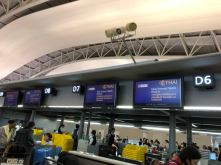 Check-in counters for passengers who have completed internet check-in