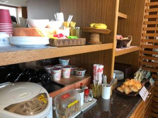 Food station in Royal Orchid Lounge