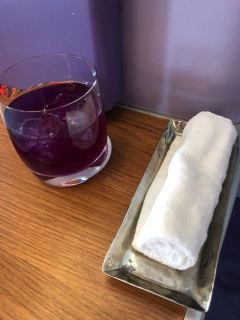 I opted for Violet Bliss as pre-departure drink