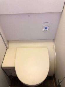 Toilet bowl in lavatory