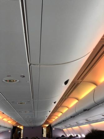 Mood lighting during flight