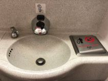 Sensor activated sink