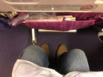 Legroom is very good onboard Thai Airways B777 Economy Class cabin