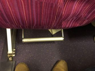 Footrest at every seat in the Economy Class cabin