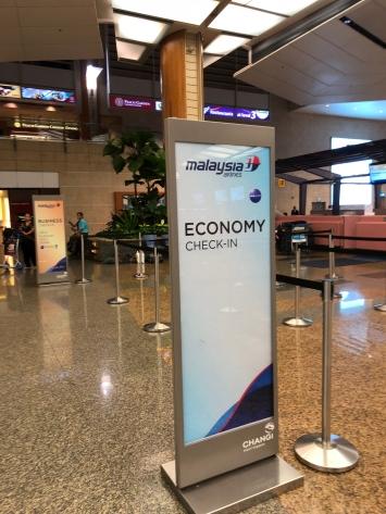 Queue dedicated for Economy Class passengers