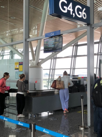 Our flight departs from Gate G4