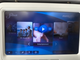 IFE menu is easy to navigate