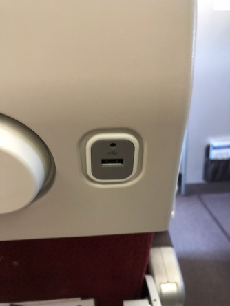 USB port is found on every seat in the Economy Class cabin