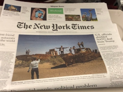 I got a copy of New York Times