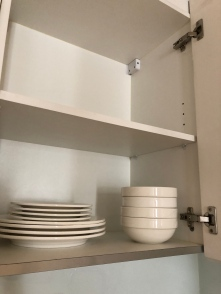 Dinnerware for 4 in the cabinets