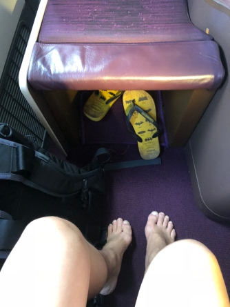 Excellent legroom on Thai Airways Business Class