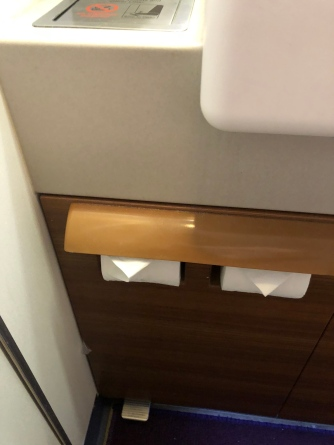 Wooden furnishes in the lavatory