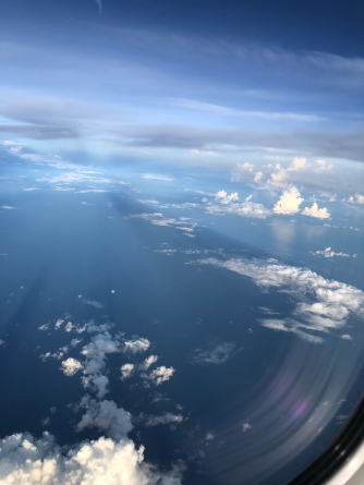 Flying over South China Sea