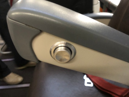Seat recline button