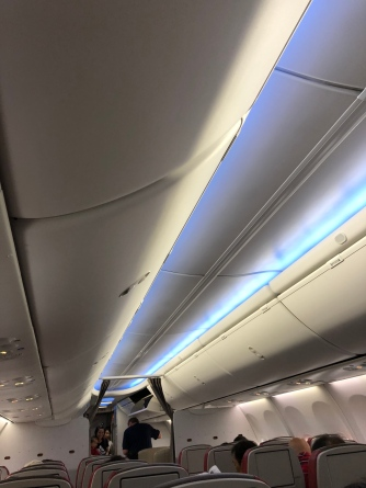 Mood lighting used in flight